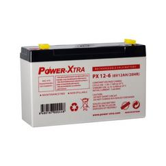 Power-Xtra 6V 12 Ah باتری سیلد اسید