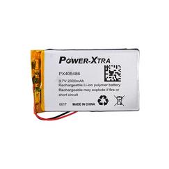 Power-Xtra PX405486 2000 mAh Li-Polymer Battery with PCM
