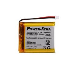 Power-Xtra PX663539 3.7V 1100 mAh Li-Polymer Battery with Conn./PCM (1.5A)