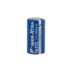 Power-Xtra PX-ICR16310 3.7V 650mAh Battery - Flat Head