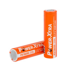 Power-Xtra 3.7V Li-ion 18650 2500 Mah Rechargeable Battery