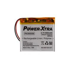 Power-Xtra PX305550 3.7V 800 mAh Li-Polymer Battery with PCM(1.5A)