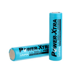 Power-Xtra 3.2V LiFePO4 IFR18650 1500 Mah Rechargeable Battery