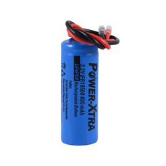 Power-Xtra 3.2V LiFePO4 IFR18500 800 Mah Rechargeable Battery with Cable