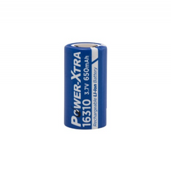 Power-Xtra PX-ICR16310 3.7V 650mAh Battery - Düz başlık