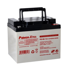 Power-Xtra 12V 40 Ah Quru Qurğuşun Turşu Akkumulyator