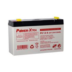 Power-Xtra 6V 12 Ah Quru Qurğuşun Turşu Akkumulyator