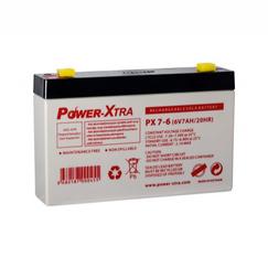 Power-Xtra 6V 7 Ah Quru Qurğuşun Turşu Akkumulyator