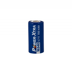 Power-Xtra 3.7V Li-ion 16340(RCR123A) 700 Mah Şarjlı Batareya