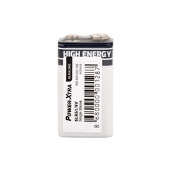 Power-Xtra 6LR61/9V Size Alkaline Battery - with Single Shrink