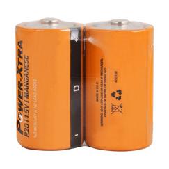 Power-Xtra R20/D Size Zinc Manganez Pil - 2li Shrink