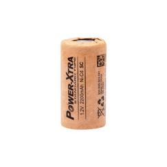 Power-Xtra 1.2V Ni-Cd SC 2200 Mah Kağıt Şarjlı Pil (Flat)