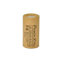 Power-Xtra 1.2V Ni-Cd SC 1500 Mah Kağıt Şarjlı Pil
