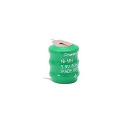 Power-Xtra 3.6V Ni-Mh 80 Mah 3 Pin Button Pil