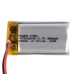 Power-Xtra PX602035 380 mAh Li-Polymer Pil
