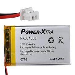 Power-Xtra PX334060 650 mAh Li-Polymer Pil (Soketli)