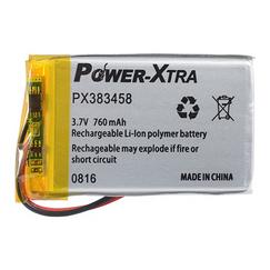 Power-Xtra PX383458 760 mAh Li-Polymer Pil