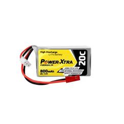 Power-Xtra PX800XXL 7.4V 2S1P 800 mAh (20C) Li-Polymer Pil