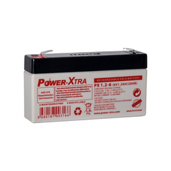 Power-Xtra 6V 1.2 Ah Sealed Lead Acid Battery