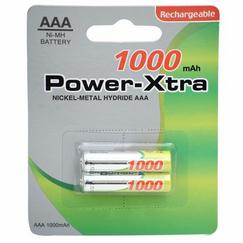 Power-Xtra AAA 1000 Mah 2li Blister Battery