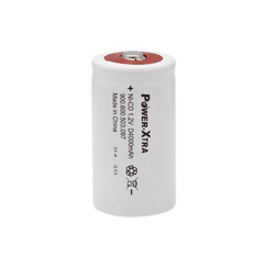 Power-Xtra 1.2V Ni-Cd D Size 4000 Mah Rechargeable Battery(Top Head)
