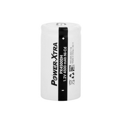 Power-Xtra 1.2V Ni-Cd D Size 4500 Mah Rechargeable Battery with top Head