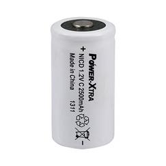 Power-Xtra 1.2V Ni-Cd C Size 2500 Mah PVC Top Head Rechargeable Battery