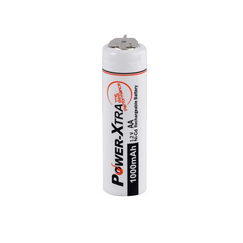 Power-Xtra 1.2V Ni-Cd AA 1000 Mah Rechargeable Battery with 3 Pins