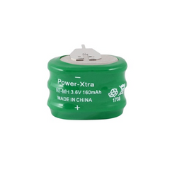 Power-Xtra 3.6V 160 Mah Ni-Mh Button Battery with 3Pins