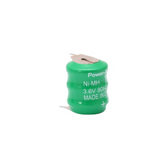 Power-Xtra 3.6V Ni-Mh 80 Mah  Button Battery with 3Pins