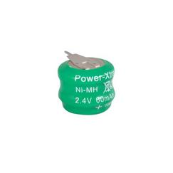 Power-Xtra 2.4V Ni-Cd 60 Mah  2 Pins Buton Battery