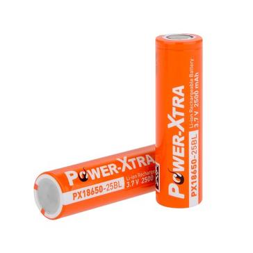 Power-Xtra 3.7V Li-ion 18650 2500 Mah Rechargeable Battery