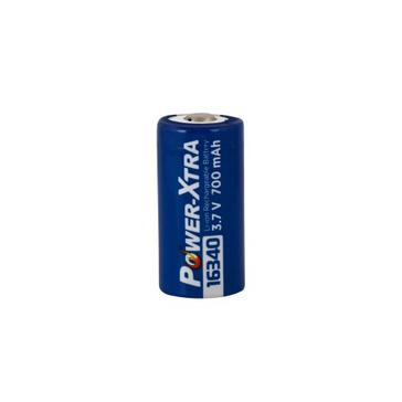 Power-Xtra 3.7V Li-ion 16340(1RCR23A) 700 Mah Battery with Bulk Packing