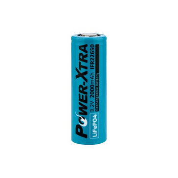 Power-Xtra 3.2V LiFePO4 IFR22650 2000 Mah Rechargeable Battery
