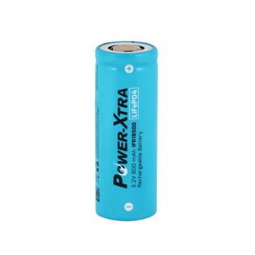 Power-Xtra 3.2V LiFePO4 IFR18500 800 Mah Rechargeable Battery 1