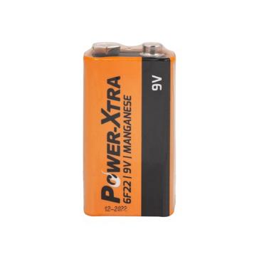 Power-Xtra 6F22/9V Size Zinc Manganese Battery-with Single Shrink