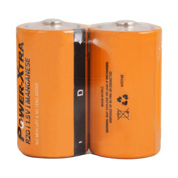 Power-Xtra R20/D Size Zinc Manganese Battery-with 2SH/SHRINK