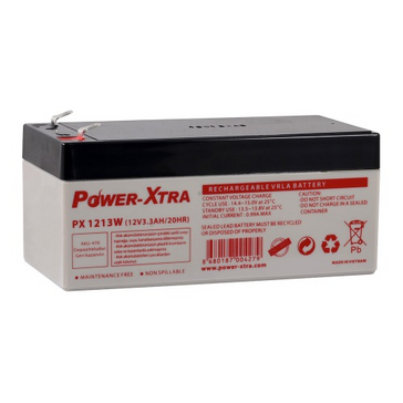 Power-Xtra 12V 3.3 Ah Sealed Lead Acid Battery