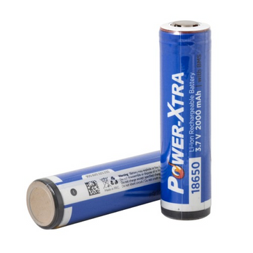 Power-Xtra 3.7V Li-ion 18650 2000 Mah Battery with PCM