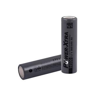 Power-Xtra 3.7V Li-ion 14500 AA 800 Mah Rechargeable Battery (Flat Head)