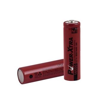 Power-Xtra 3.7V Li-ion 14500 AA 800 Mah Rechargeable Battery(Top Head)