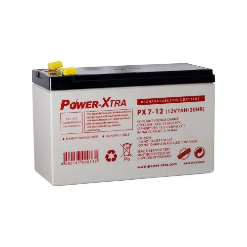 Power-Xtra 12V 7 Ah F1 Pin Sealed Lead Acid Battery