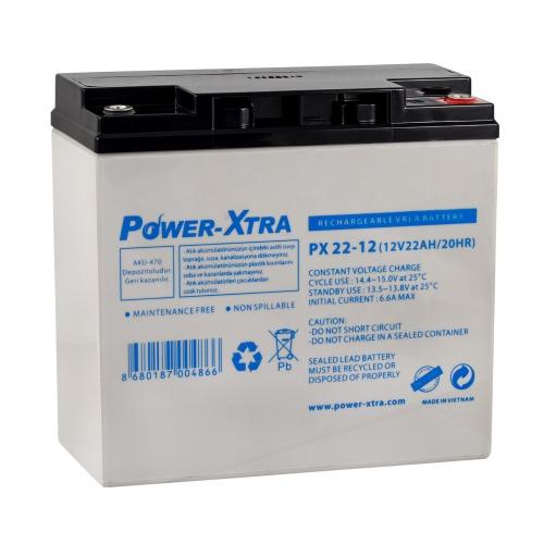 Power-Xtra 12V 22 Ah Electric Bike Battery
